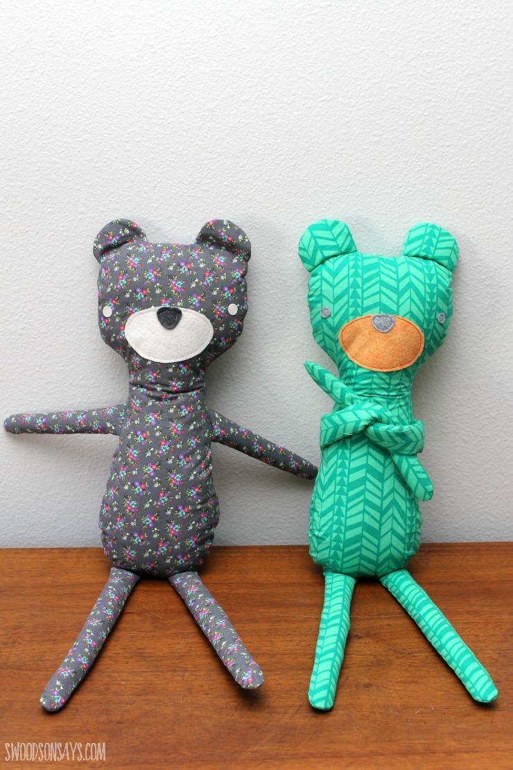 modern teddy bear sewing pattern