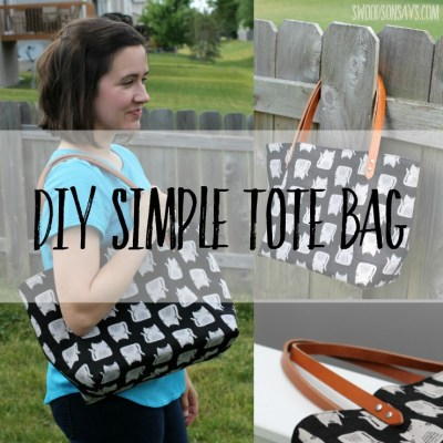 See this DIY canvas tote bag that I sewed up in an afternoon - it even has metal rivets! The pre-drilled leather handles make it super easy and look professional. Perfect tote bag to sew for beginners.