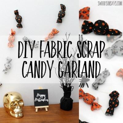 Easy Fabric Scrap Halloween Garland