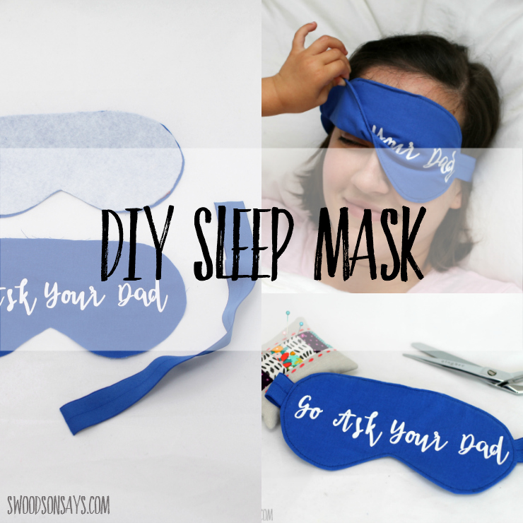Wondering how to sew a sleep mask? Use this free sleep mask sewing pattern and tutorial to make your own! #sleepmask