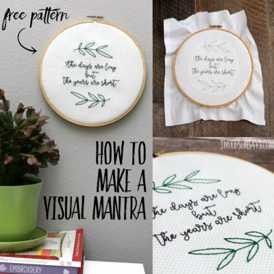 Free Embroidery Pattern for Parents