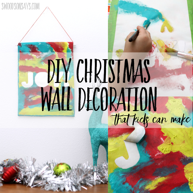 check out this fun and easy diy christmas wall decoration that you can make with your