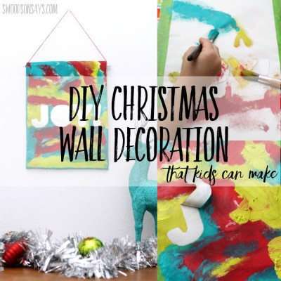 DIY Christmas Wall Decoration that Kids Can Make
