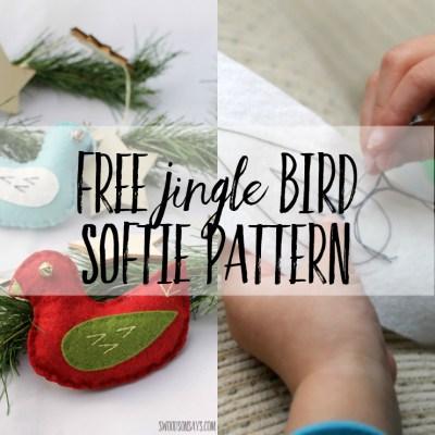 Free Jingle Bird Softie Sewing Pattern