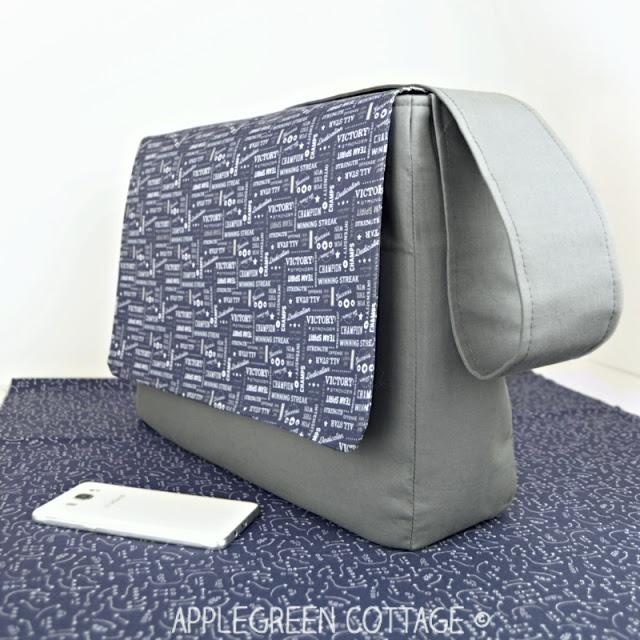 mens messenger bag sewing free pattern