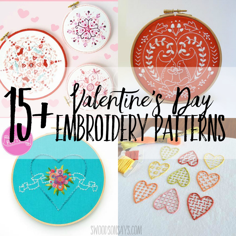 15+ Valentine's Day hand embroidery patterns