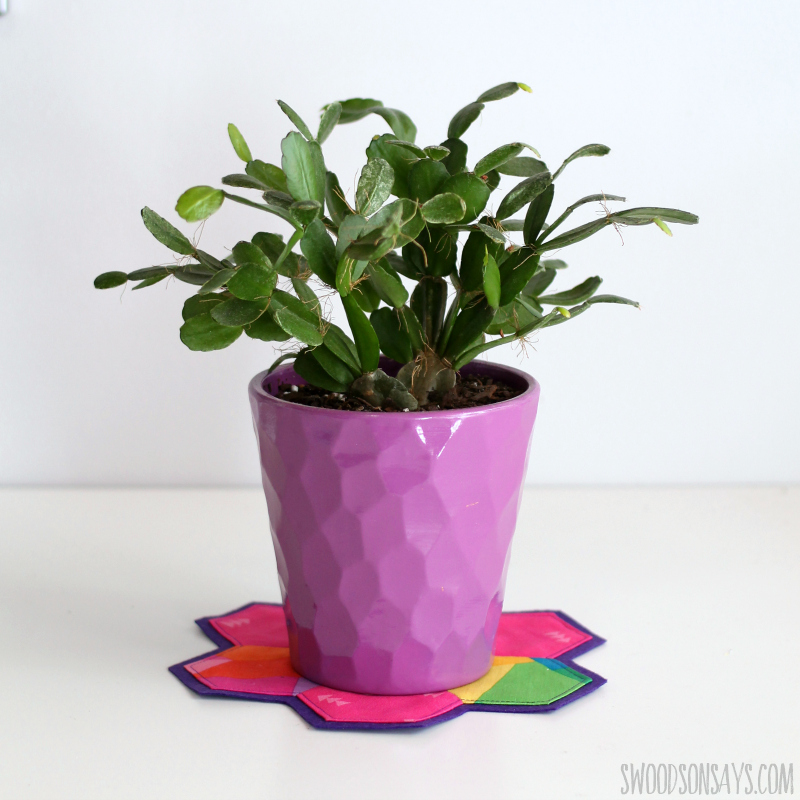plant coaster sewing tutorial