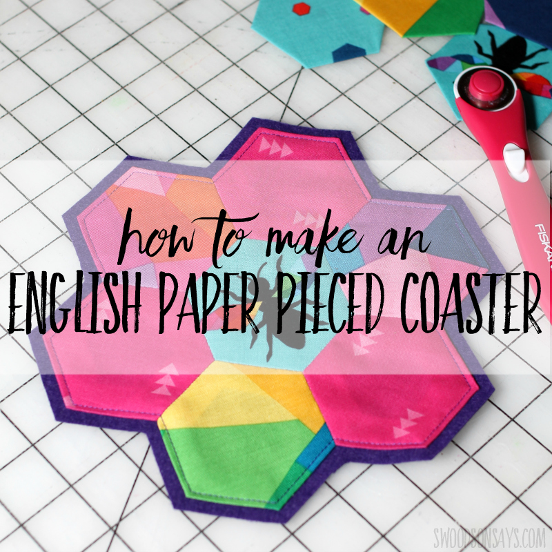 english paper pieced coaster