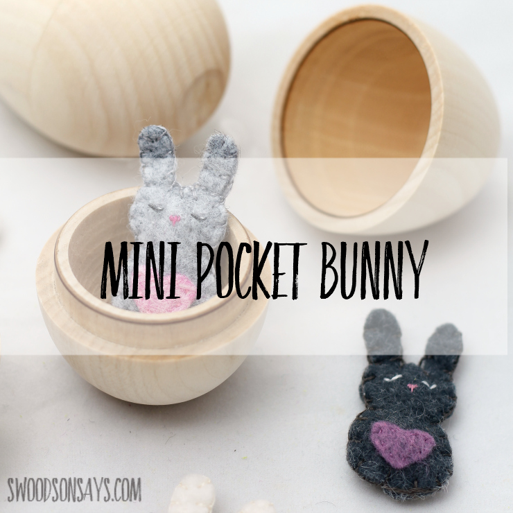 751322ff9 Free felt bunny sewing pattern alert! Hand sewn and adorable, this tiny  bunny will
