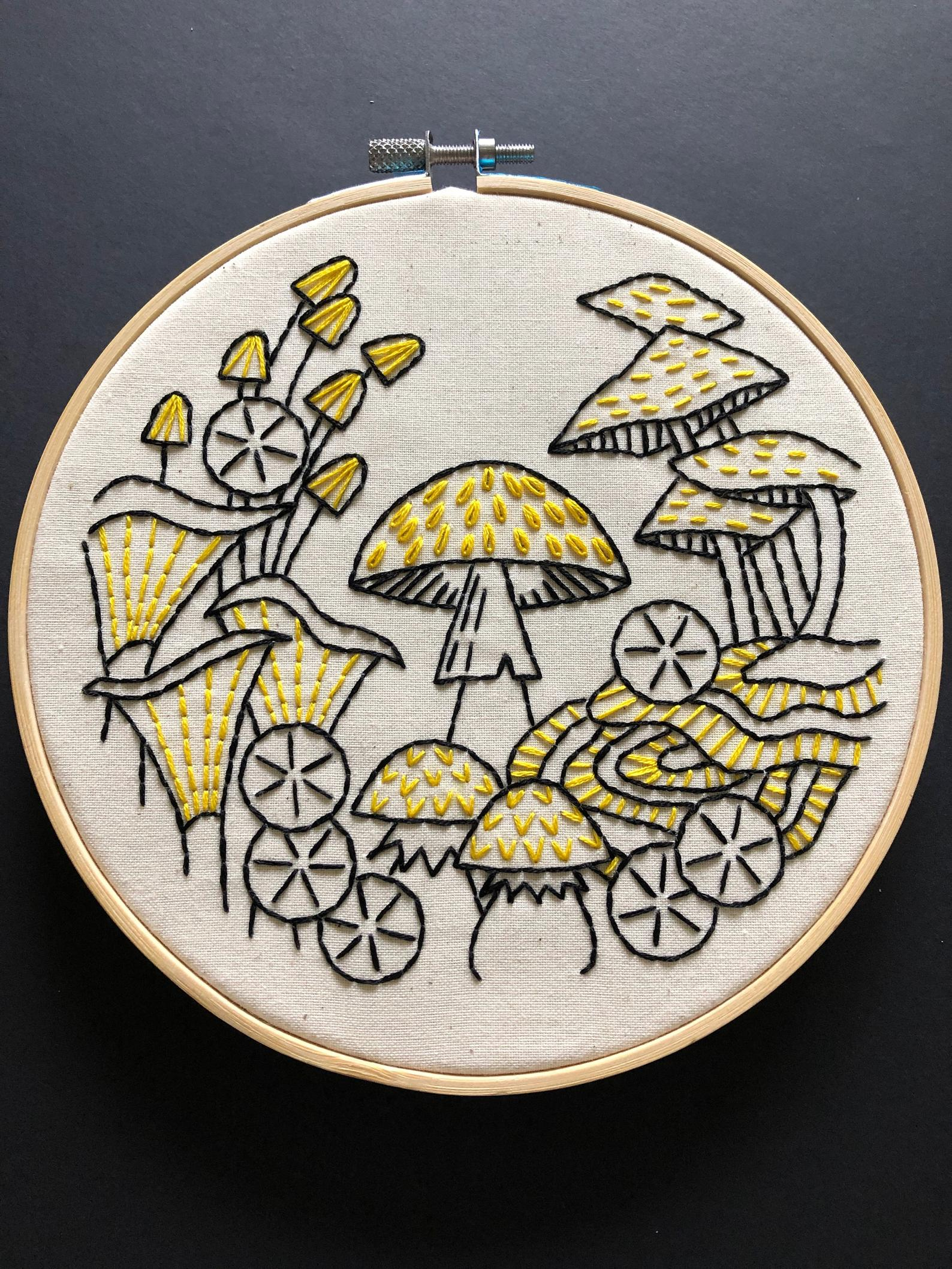 fungi embroidery kit