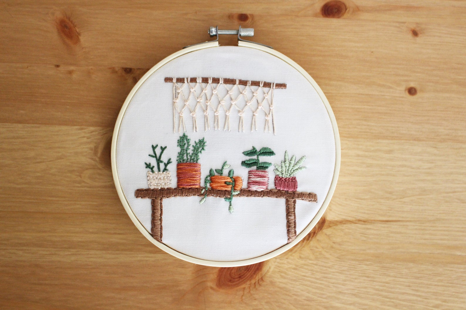 houseplant embroidery kit