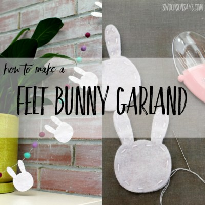 See how to make a felt bunny bunting for Easter! This shows off the capabilities of the Cricut Maker machine so you don't have to cut anything by hand. It is a fun Easter craft for adults to make diy felt Easter decorations. #SewCricut #CricutMade #ad