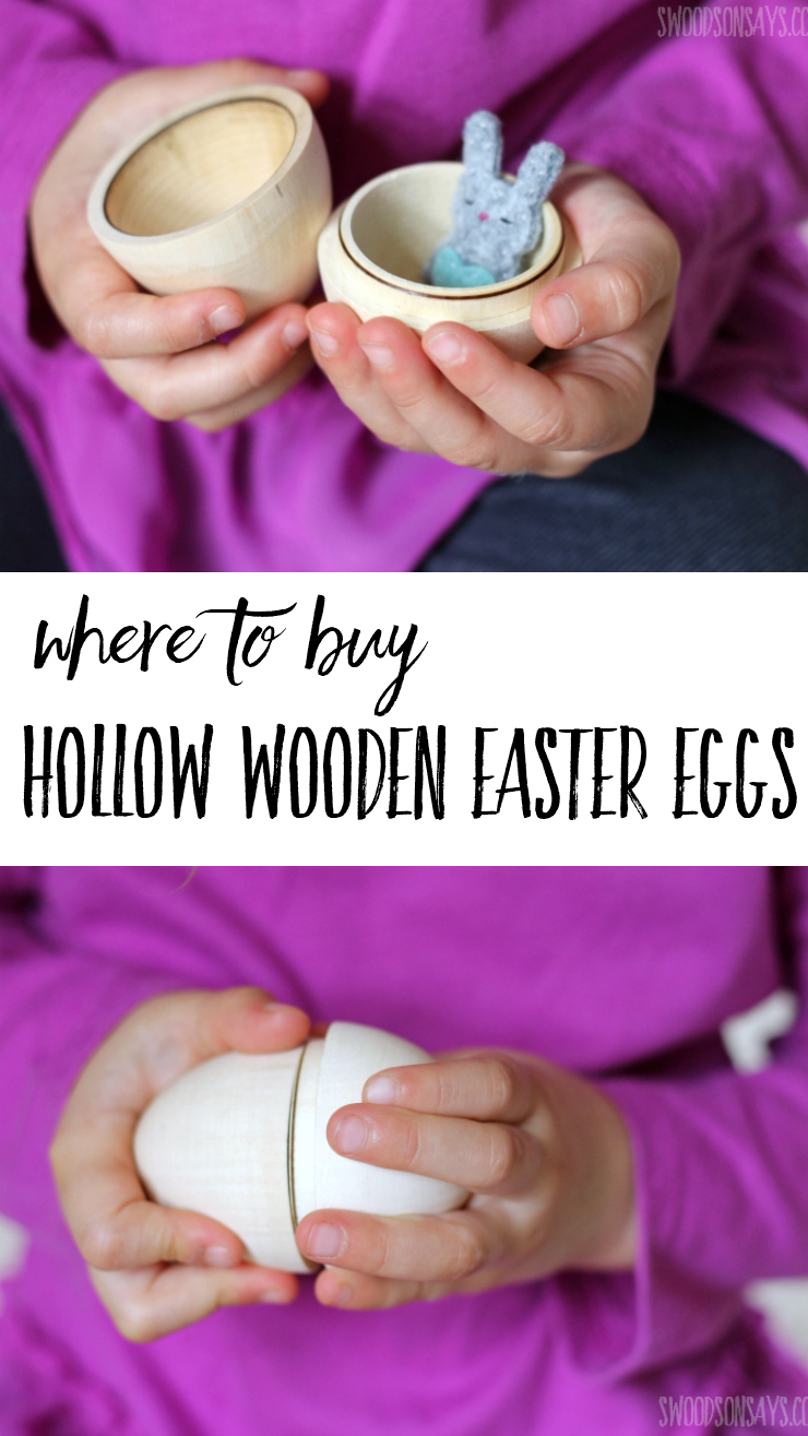 It can be overwhelming searching for a specific Easter craft product; I'm sharing where I found high quality, hollow wooden Easter eggs that open! #easter #eastercrafts