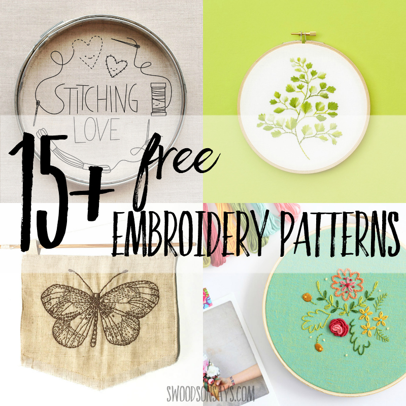15 Free Hand Embroidery Patterns Swoodson Says