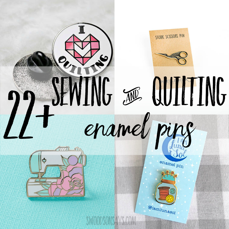 Sewing themed lapel pins
