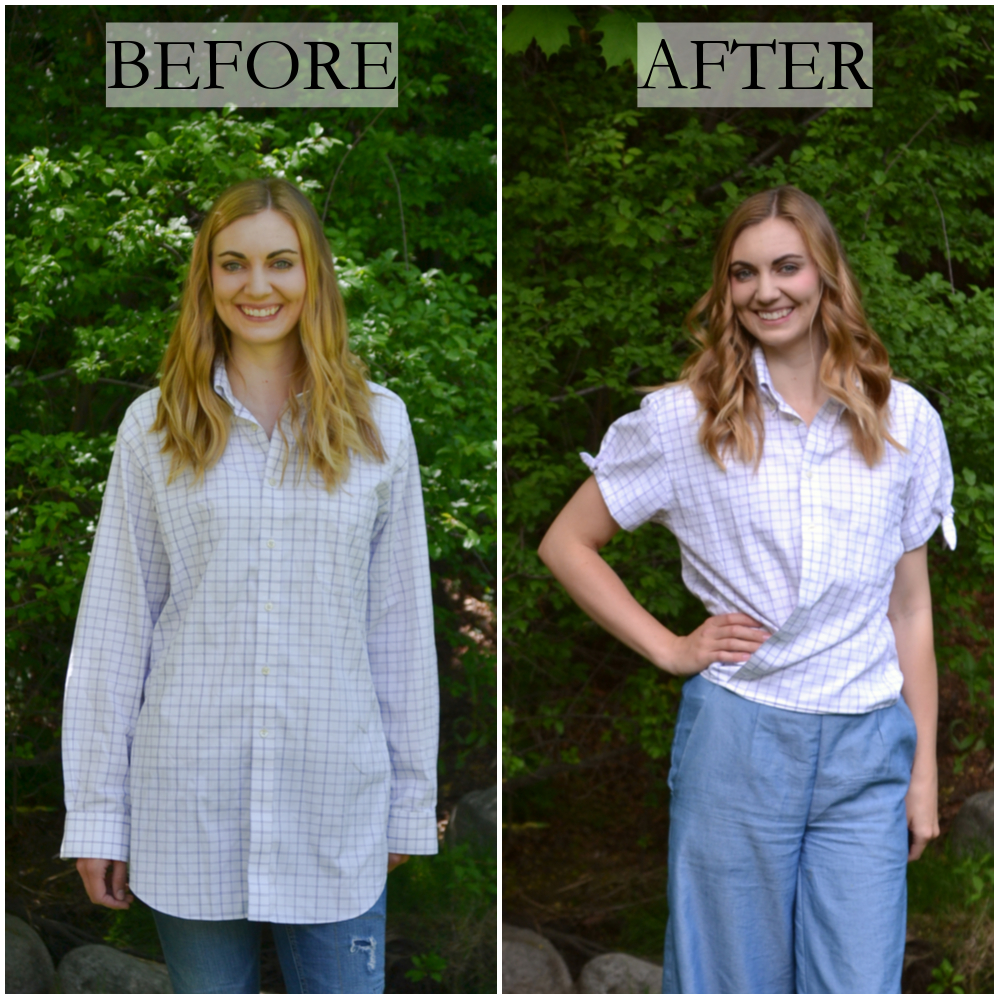 d6ace958280 Men s button down shirt refashion to a wrap shirt from Heather Handmade – I  think this is super creative