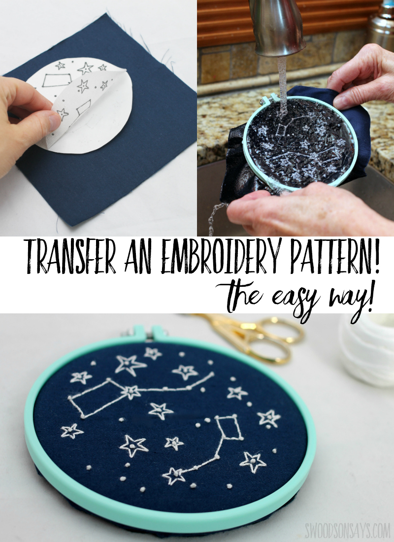 Stop tracing and start printing! This embroidery pattern transfer method is super easy - click through to see more. #embroidery #handembroidery