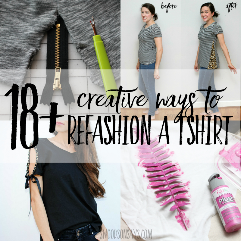 t-shirt refashion tutorials
