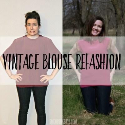 Vintage Blouse Refashion