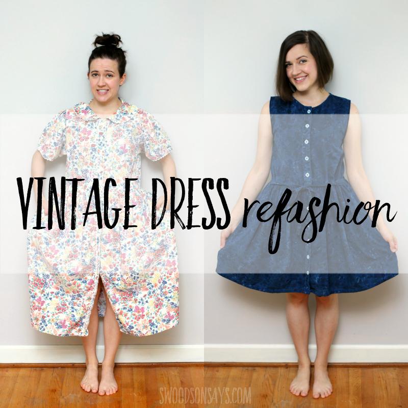 Vintage dress refashion