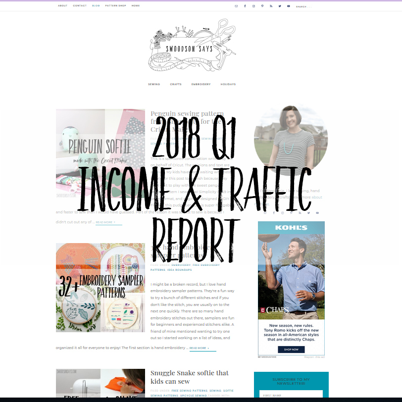 2018 Q1 Income & Traffic Report