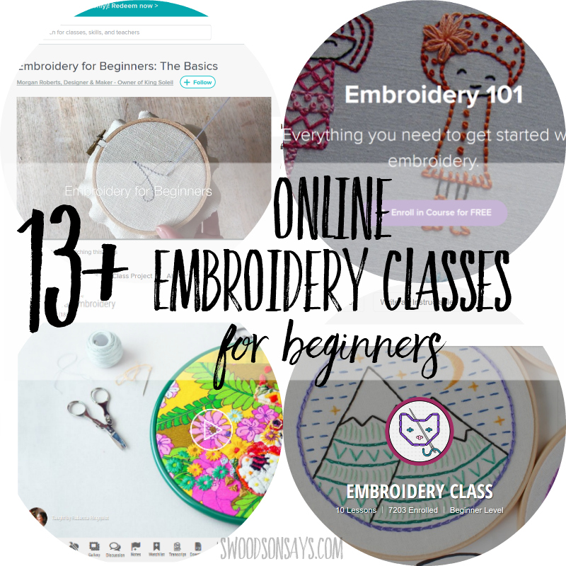 Online embroidery class round-up