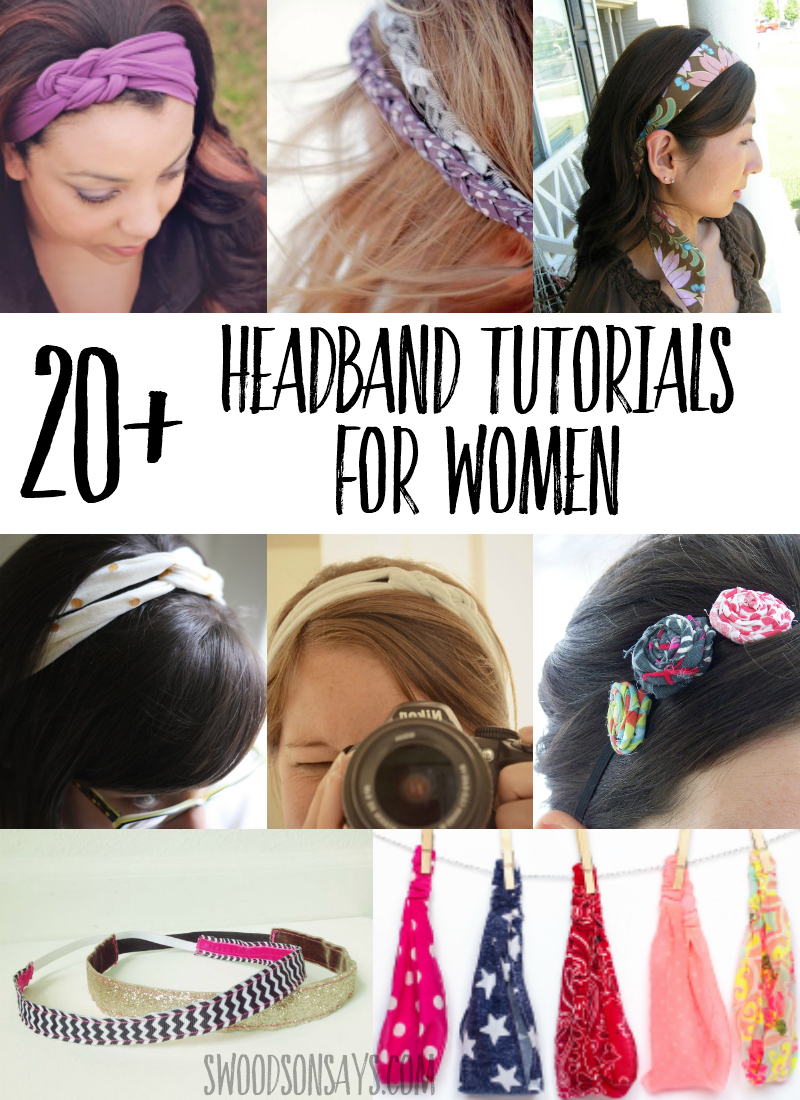 Over 20 free headband sewing tutorials for women linked in this post, a great way to use up fabric scraps and cheap handmade gift. #sewing #pdfpattern #crafts
