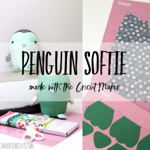 Penguin sewing pattern from Simplicity for the Cricut Maker
