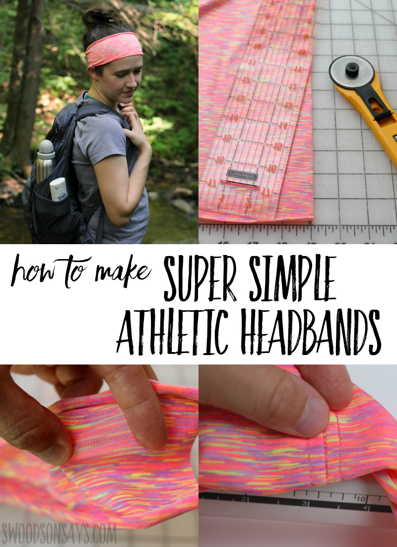 The easiest headband tutorial ever! 3 seams and you're done, click through and see how to sew this athletic headband. Perfect for hiking and working out - in a post sponsored by Tom's of Maine. #ad #sewing #sewingwithknits #sewingtutorials