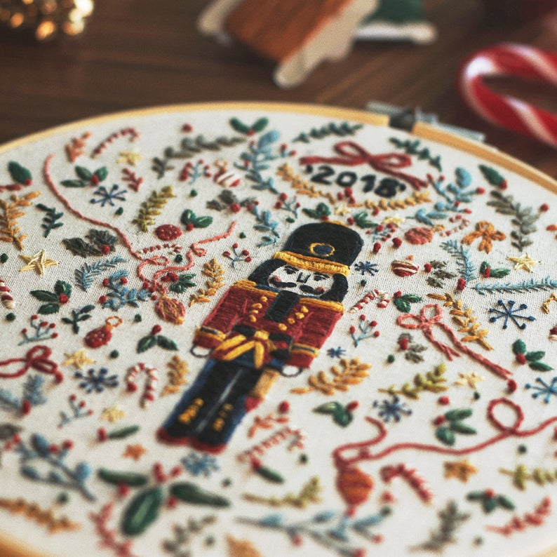 nutcracker christmas pattern