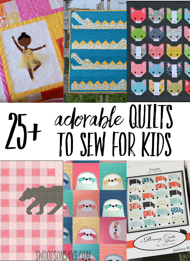 Check out this list of unique, fun quilt patterns to sew for big kids! Animal quilt patterns, truck quilts, boat quilts, and more - click through and find a favorite to sew. #quilts #quilting #sewing #sewingpattern