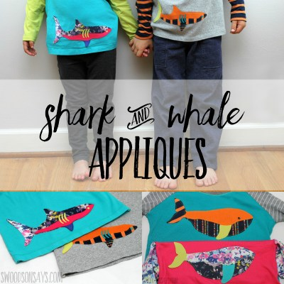 shark applique whale applique