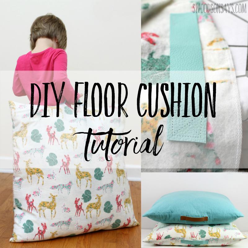 diy floor cushion tutorial