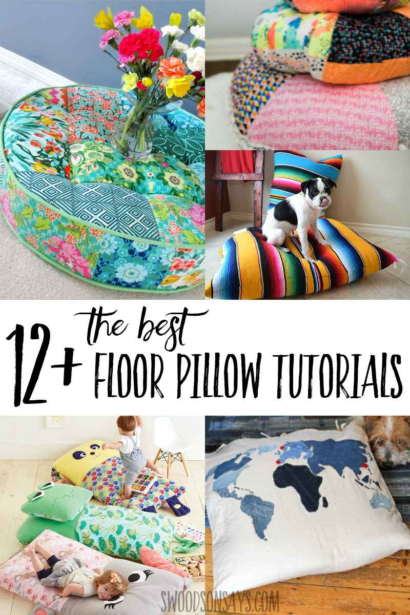 Get cozy this fall with one of these diy floor pillow tutorials! Links for the best ways to make a floor pillow in all sorts of fun styles. #sewing #crafts
