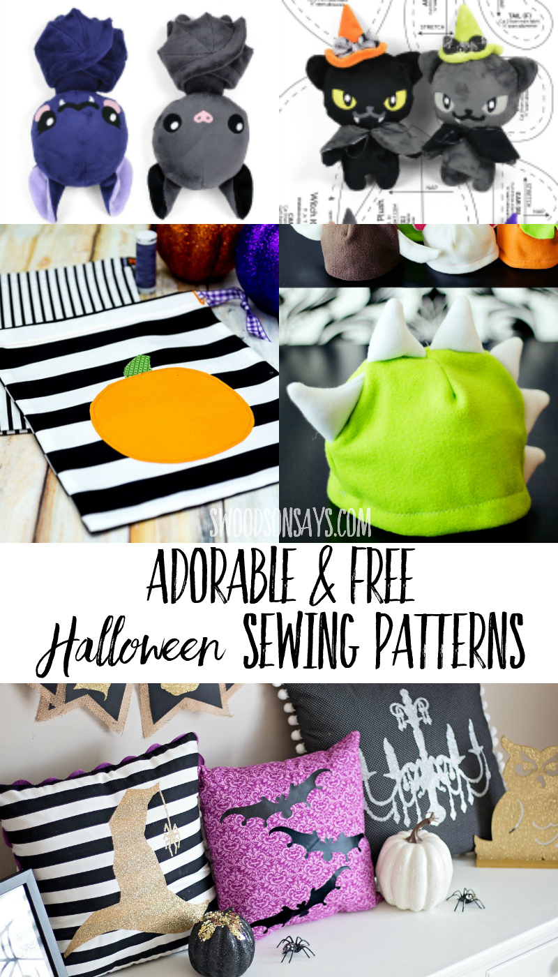 Festive Halloween sewing ideas galore! Check out these free Halloween sewing patterns to make this holiday season. #halloween #sewing