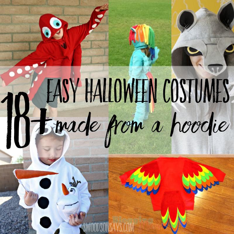 18+ DIY hoodie halloween costumes