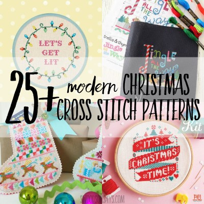 25+ Christmas cross stitch patterns