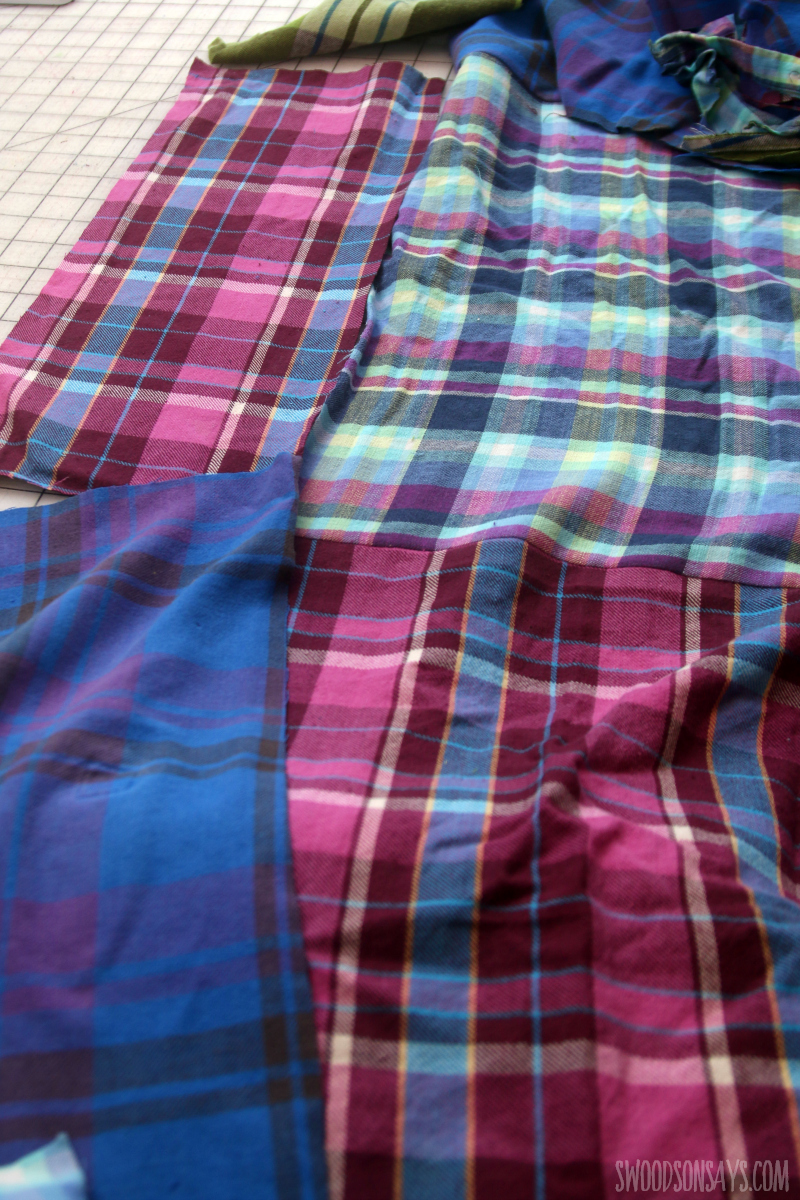 patchwork flannel sewing project