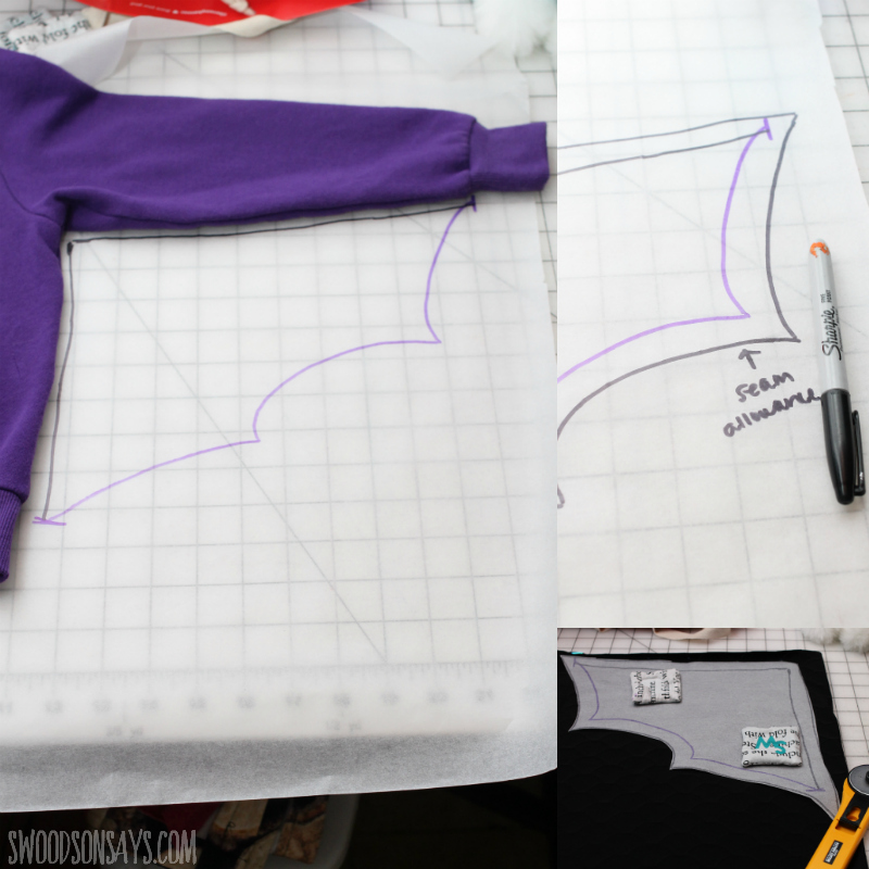 create a dragon wing pattern