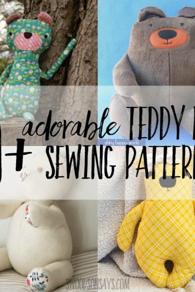 cutest teddy bear sewing patterns