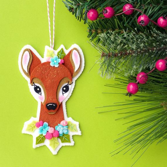 gorgeous felt deer ornament pattern form lolli and grace