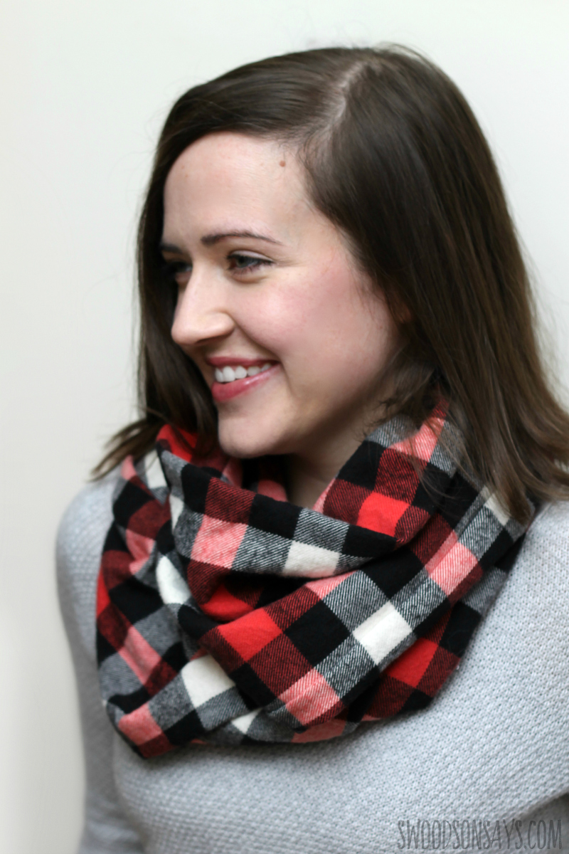 how to sew a flannel infinity scarf measurements