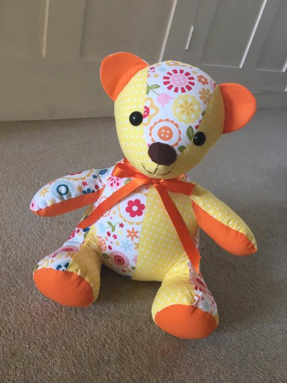 memory teddy bear pdf pattern