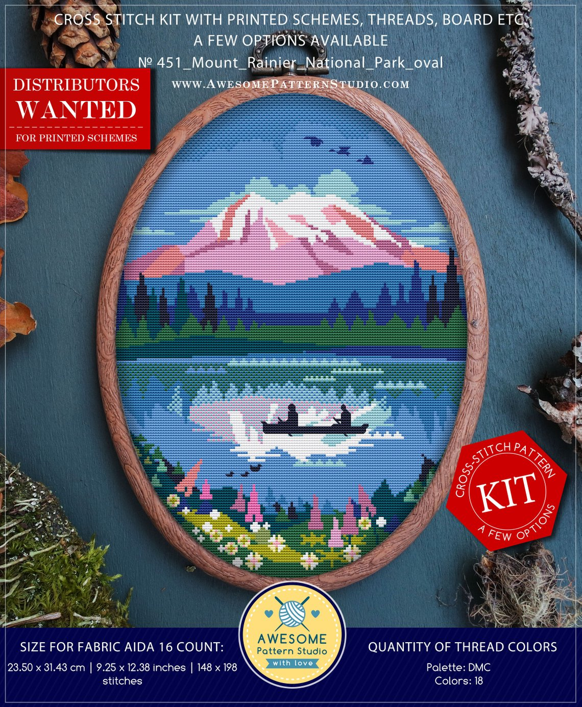 mountain cross stitch kit