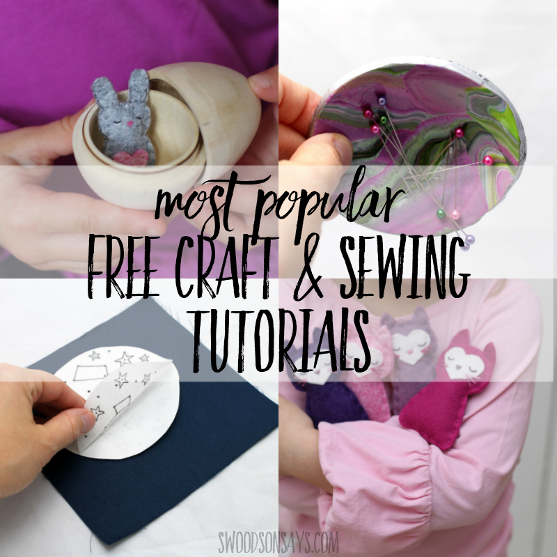 popular free craft and sewing tutorials