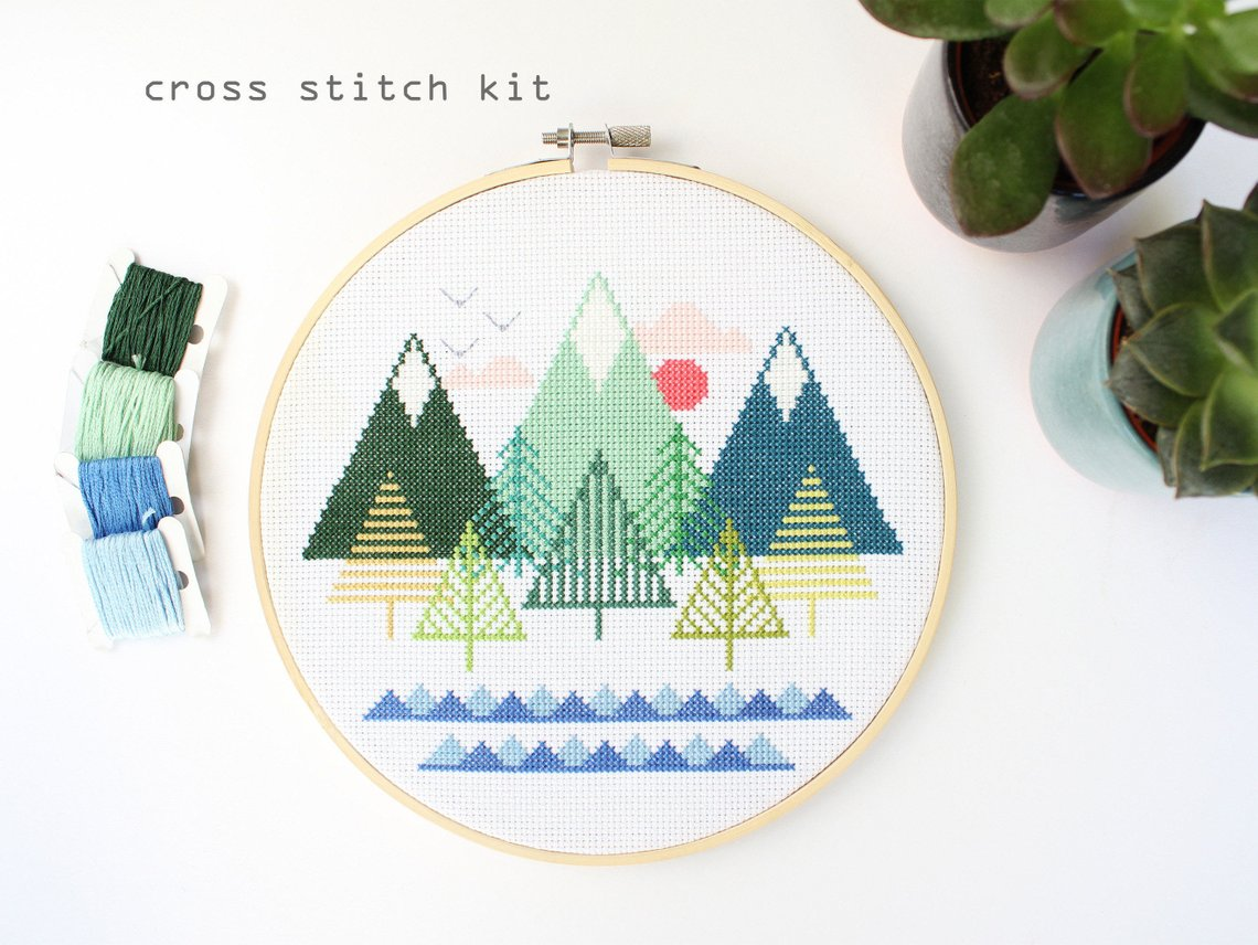 tree cross stitch kit