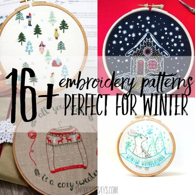 winter hand embroidery patterns