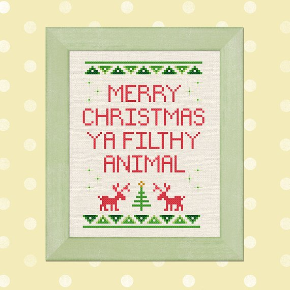 ya filthy animal cross stitch pattern