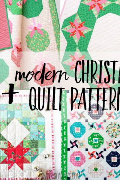 30+ modern Christmas quilt patterns