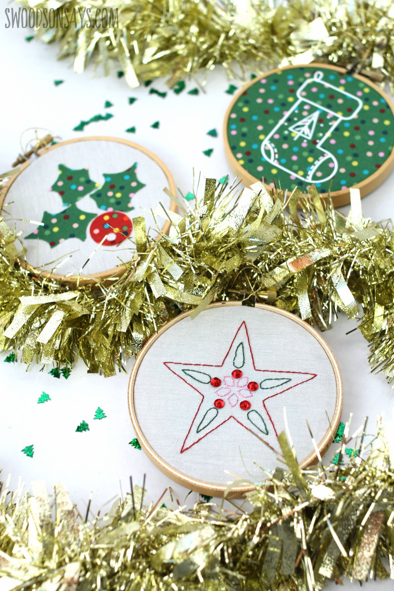applique christmas ornament with cutting machine
